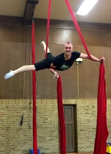 TCC Coach Wesley on Aerial Silks